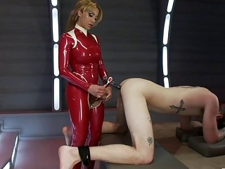 Layex fantasy with shemale cock in the butt hole