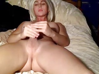 Aroused blonde shows off her tranny skills