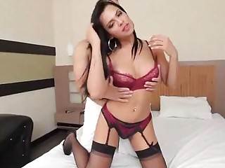 Big booty transgender in stockings gets her ass fucked