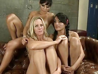 Shemales take over a white girls tight wat love hole