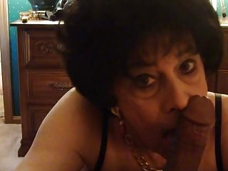 Imposing granny loves sucking a dick in a crazy group
