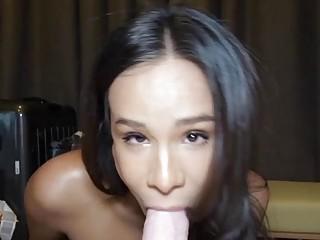 Horny Ladyboy Natalia Gives Blowjob And Ass Fucked